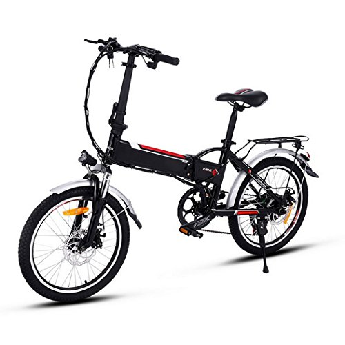 Minilism Faltbares E-Bike, Elektrofahrrad Klapprad 36V 250W Mountainbike, Große Kapazität Pedelec mit Lithium-Akku und Ladegerät (20Zoll/26Zoll)