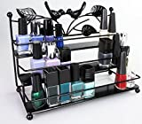 Kosmetik Organizer 3 Ablagen - Schwarz 26 x 21 x 13 cm - Kosmetikregal Nagellack Aufbewahrung Präsentation - Grinscard