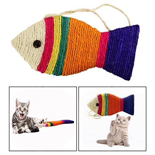 Ofkpo tappeto tiragraffi per gatti - forma di pesce