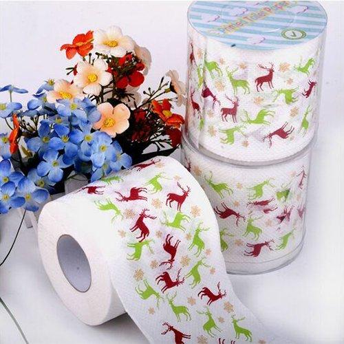 chenkou Craft BestMall Santa Weihnachten Deer WC-Papier Tisch Wohnzimmer Dekoration
