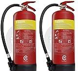 FSS UK 2x 6litros AFF de espuma Extintores de incendios CE y BSI–Protector de. De Nueva fabricación. Envío al Día Siguiente. Ideal para barcos cocinas, restaurantes, oficinas, almacenes, hoteles y todos los líquido incendios.