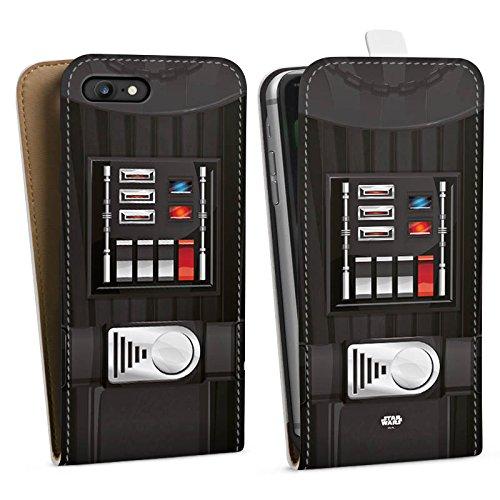 Apple iPhone X Silikon Hülle Case Schutzhülle Star Wars Merchandise Fanartikel Darth Vader Downflip Tasche weiß