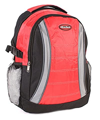 bp-612Noir/Rouge–Sac à dos casual sac à dos Polyester Sac école