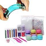 12PCS Macarons Slime mit Glitter DIY Schleim Kristall Schlamm Kit Release Druck Entlastung Magie Plastilin Kinder Spielzeug (12 PCS)