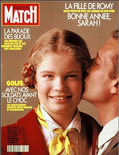 Paris Match n° 2172 du 10 Janvier 1991 - Sarah Biasini avec Romy Schneider 8p, Dalai Lama, Paul Newman 4p
