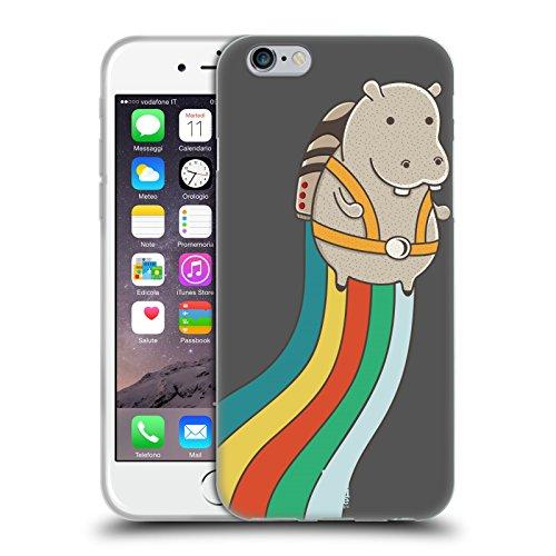 Head Case Designs Telefono Jazzy Vintage Cover Morbida In Gel Per Apple iPhone 7 / iPhone 8 Ippopotamo