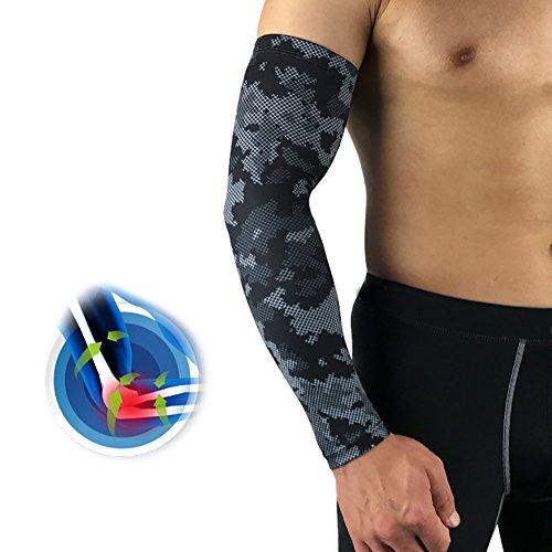 Aesy Scaldabraccia e Manicotti Sportivi, Anti UV Manicotti Compressione Braccia Armbandage Arm Sleeves – Adulti Uomo Donna – Compressione, Traspirante,...
