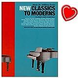 Music For Millions: New Classics To Moderns - Klavier Noten mit bunter herzförmiger Notenklammer