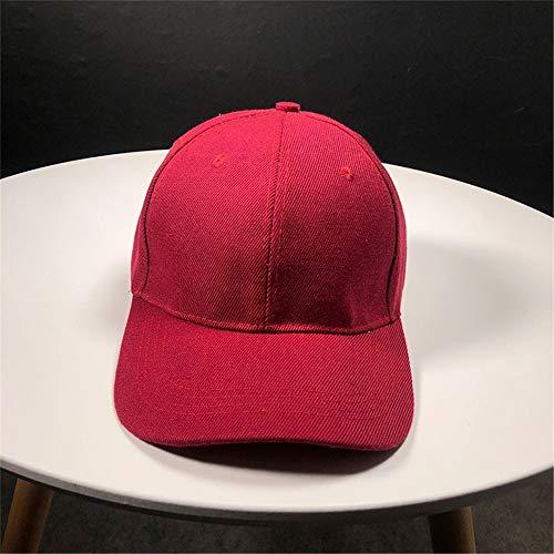 hat-maihef Hut Frühling und Sommer Damen Outdoor-Sonnenschutz Sonnenschutzkappen Flut Junge B13101 Licht i Platte Volltonfarbe Baseballmütze rot einstellbar -