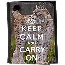 le portefeuille de grands luxe femmes avec beaucoup de compartiments // Q01016317 keep calm and carry on 800 // Small Size Wallet
