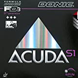 Donic Acuda S1 Table Tennis Rubber (Black, 2.0 mm) by Donic