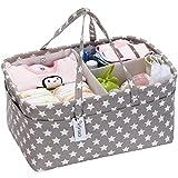 Cesta de almacenamiento para pañales de bebé, organizador de coche, cesta de regalo para recién...