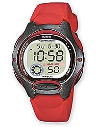 Reloj Cronometro digital señora tipo Cadete Caja y correa resina Rojo C0034