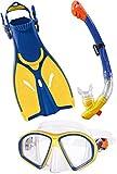 Golden Lutz CRIVIT® Profi-Tauch- und Schnorchelset, Kinder (gelb blau, Gr. S - 27-31)
