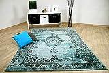 Wohnzimmer Designer Teppich Pop-Vintage Orient Mintgrün in 4 Größen