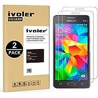 [2 Pack] Samsung Galaxy Grand Prime Protector de Pantalla, iVoler Protector de Pantalla de Vidrio Templado Cristal Protector para Samsung Galaxy Grand Prime G530 -Dureza de Grado 9H, Espesor 0,30 mm, 2.5D Round Edge-[Ultra-trasparente] [Anti-golpe] [Ajuste Perfecto] [No hay Burbujas]- Garantía Incondicional de 18 Meses