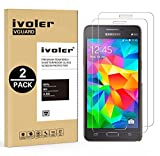 [Lot de 2] Samsung Galaxy Grand Prime Protection écran, iVoler Film Protection d'écran en Verre Trempé Glass Screen Protector Vitre Tempered pour Samsung Galaxy Grand Prime - Dureté 9H, Ultra-mince 0.30 mm, 2.5D Bords Arrondis- Anti-rayure, Anti-traces de Doigts,Haute-réponse, Haute transparence- Garantie de Remplacement de 18 Mois