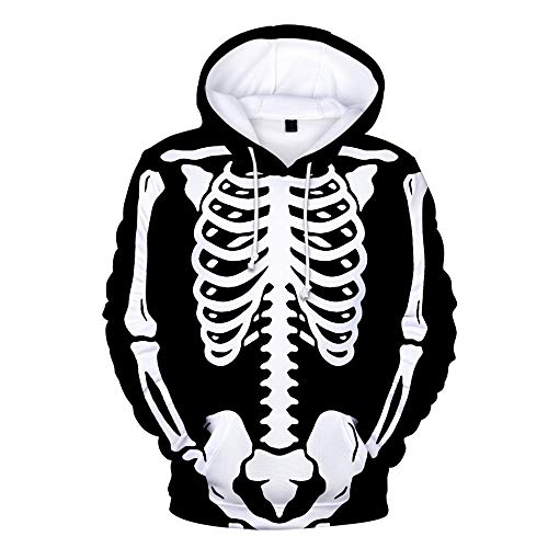 x8jdieu3 Halloween 3D Digitaldruck Pullover Sweatshirt Langarm lose Fleece Hoodie Pullover warmes Paar Shirt