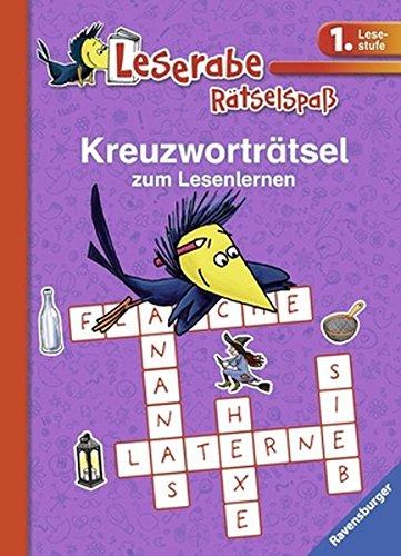 Preisvergleich Produktbild Kreuzworträtsel zum Lesenlernen (1. Lesestufe), lila (Leserabe - Rätselspaß)