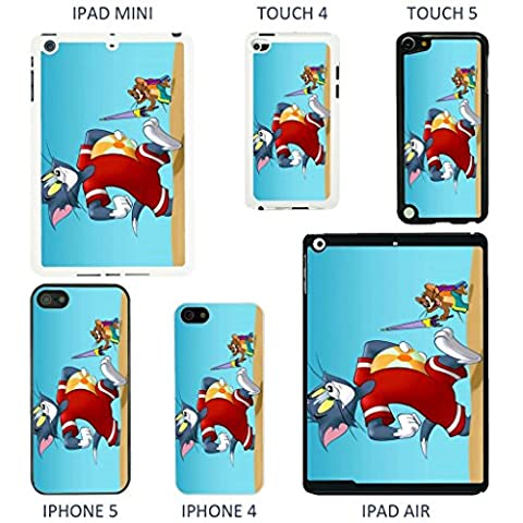 Vintage Tom And Jerry cartoon cover case for Apple iPod Touch 5th Generation - White - T1002 - Funny