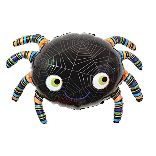 Bulary 5 stücke Halloween Kürbis Ballons Cartoon Spinne Folienballons Heliumballon Aufblasbare Spielzeug Tanzen Skelette Folienballons Halloween Dekorationen Bar Decor Event Party Supplies