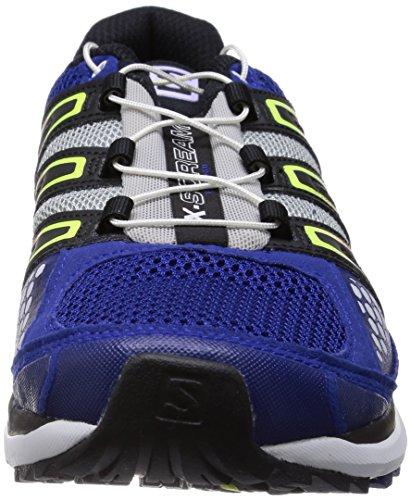 Salomon  X-Scream, Chaussures de course pour homme Bleu foncé, blanc, gris, noir, jaune fluo et r...