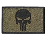GGG New Swat Punisher Skull Military Tactical Patch Tape Army Morale Badge Armband Green