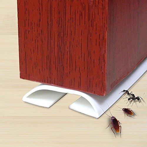 nd, AOLVO 3,28FT/1Meter PVC Außen vorne Tür Sockel, Dichtungsband Externe Tür Wetter Dichtungsband Draft Stopper für windpfoofing Schalldämmung weiß ()