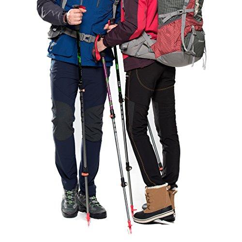 Mountaintop Trekkingstöcke - Wanderstöcke - verstellbare Teleskopstöcke für Trekking und Wanderungen, 62cm- 135cm,1 Paar,Schwarz -
