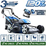 Hyundai Cordless Lawn Mower Self Propelled Battery Powered 51cm Cutting Width with 120V