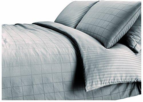 Set completo letto di lenzuola e federe matrimoniali 100% raso di cotone