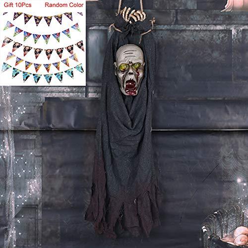 Halloween Grusel Dekorationen,Hängender Geist,Gruselig Requisiten für Karnevalsparty, Horror-Themenbar, Spukhaus,Gray (2019 Halloween-kostüme Uk Erwachsene)
