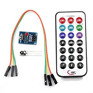 Telecomando IR Infrarossi 38 Khz + Ricevitore HX1838 Remote Control per Arduino