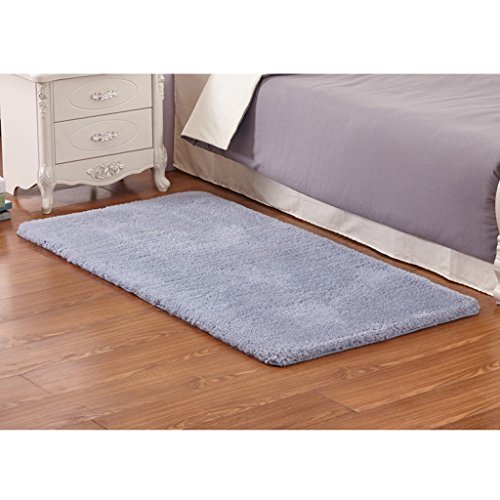 GBBD Verdickte Lammfell, Schlafzimmer Bettvorleger, Küche Teppich, Bad Teppich ( farbe : Silber - grau )