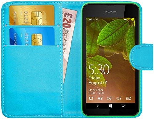 G-Shield Hülle für Nokia Lumia 530 Klapphülle mit Kartenfach - Hellblau
