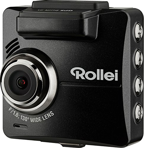 ROLLEI CARDVR-310 - VIDEOCAMARA PARA COCHE (PANTALLA DE 2 31  1080P / 60 FPS  F/1 8  SENSOR G)  COLOR NEGRO