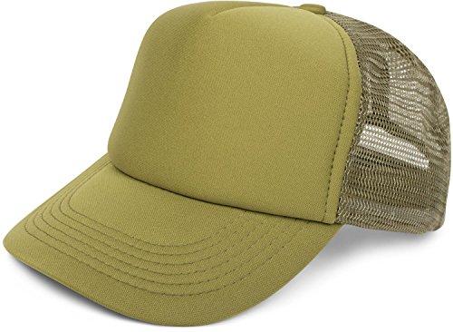 styleBREAKER 5 Panel Mesh Cap, Trucker Baseball Cap, Basecap, verstellbar, Unisex 04023007, Farbe:Oliv