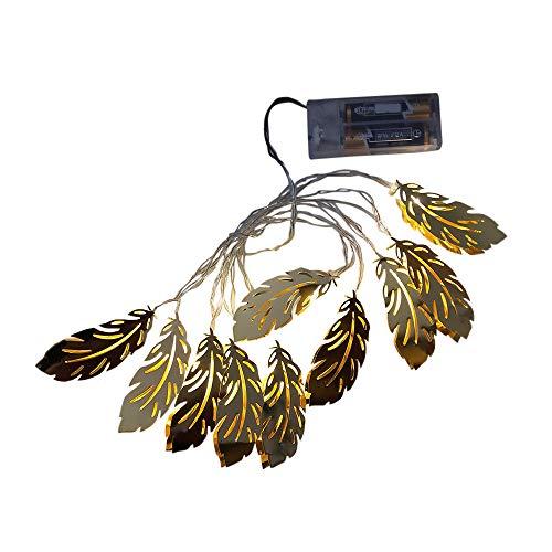 (LED Lichterketten, Goldene Feder LED Lights String Weihnachten Lampe Dekorationen Xmas Party Home Decor (Gold))
