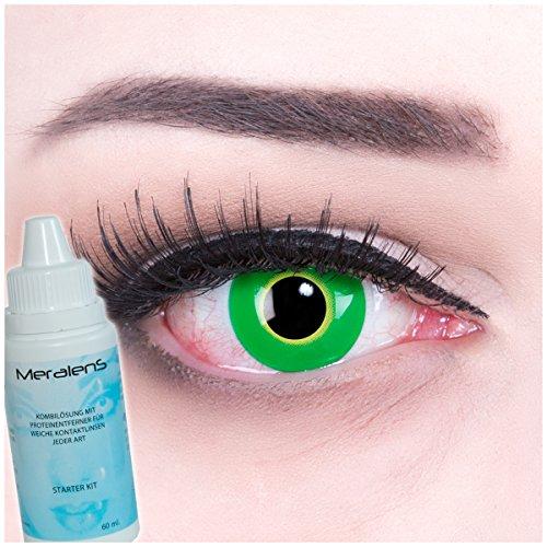 Colores Verdes Crazy FUN Contacto lente con y sin grosor Crazy Contact  Lenses Hulk Green 1 6fe4b624b19e