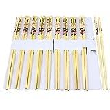 Perfect Pricee Natural Round Bamboo Reusable Chopsticks (9.5 Inch) -Set of 5 Pairs