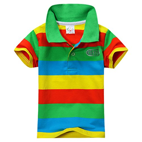 BOBORA Baby Boys Summer Cotton Short Sleeve Clothes Tops T-Shirt Striped Polo Shirt