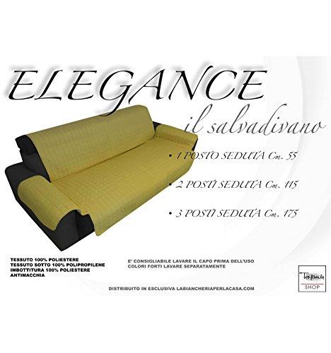 tex family COPRIDIVANO OR SALVADIVANO Elegance Giallo Oro ANTIMACCHIA Trapuntato Piano Liscio (3 posti Seduta cm. 175)