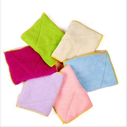 aikesi 5unids asciugamani da cucina panno di tessuto panni da cucina asciugamano asciugamani di tè lavabile macchina Panni di pulizia Cassaforte panno assorbente cinque colori uno per Vender