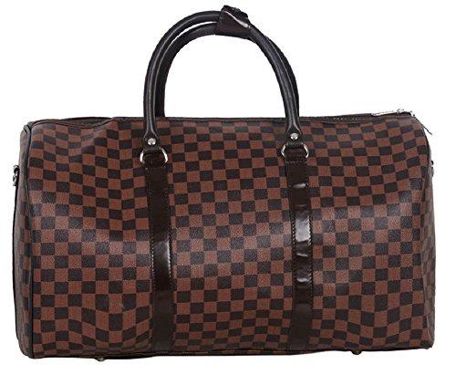 Gossip Girl Große Handtasche inspiriert von einem Designer, für Wochenendtrips oder Fitnessstudio, Handgepäcksgröße, braun (On Carry Gucci)
