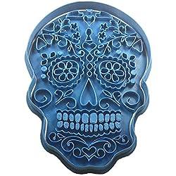 Cuticuter Halloween Calavera Mexican Cortador para Galletas, Azul, 20 x 9 x 1.5 cm