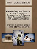 Koehring Company, Petitioner, V. Hyde Construction Company, Inc. U.S. Supreme Court Transcript of Record with Supporting Pleadings