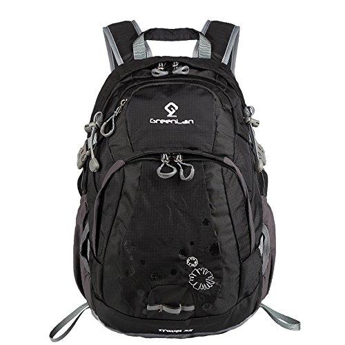 greeenlan Sport all' aria aperta 25L impermeabile zaino da escursionismo arrampicata alpinismo borsa da viaggio zaino da trekking, 801, Rose, 25L Black