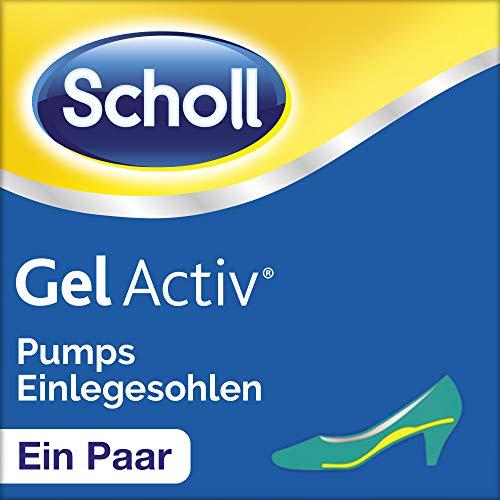 Scholl Gel Activ Einlegesohlen für Pumps und Schuhen mit Absätzen bis 5,5 cm - Weich gepolsterte Einlegesohle für mehr Komfort - 1 Paar, passend für Schuhgröße 35-40,5