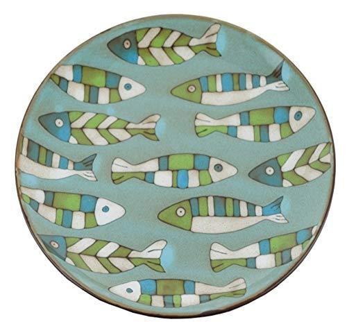 Plateau de conception de poisson en grès 8.5\