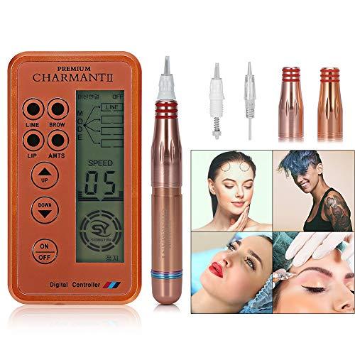 2 Semi Permanent Maquillage Stylo Tatouage Machine Beauté Lèvre Sourcils Eyeliner d'Alimentation EU Prise